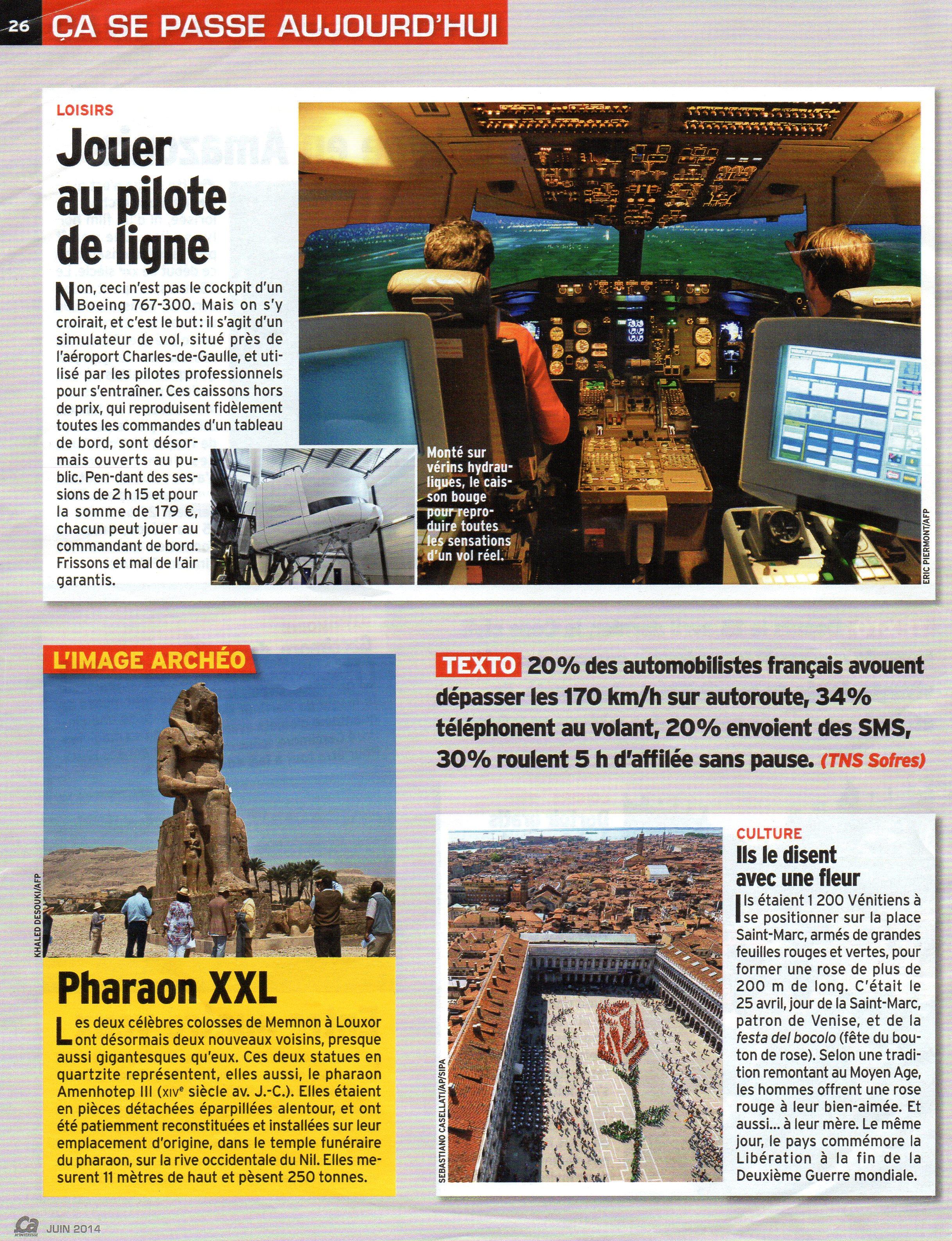 Magazine francese - giugno 2014
