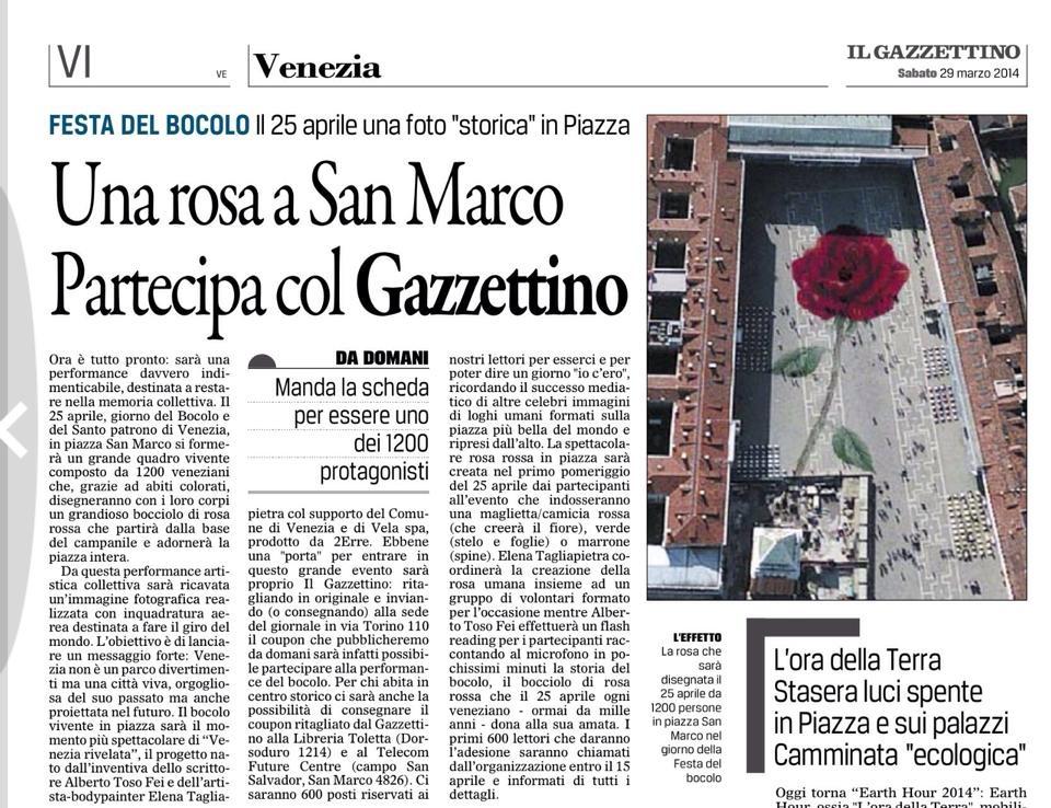 articolo gazzettino venezia rosa