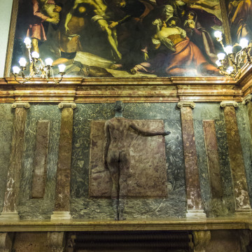 venezia rivelata ateneo veneto body painting camouflage